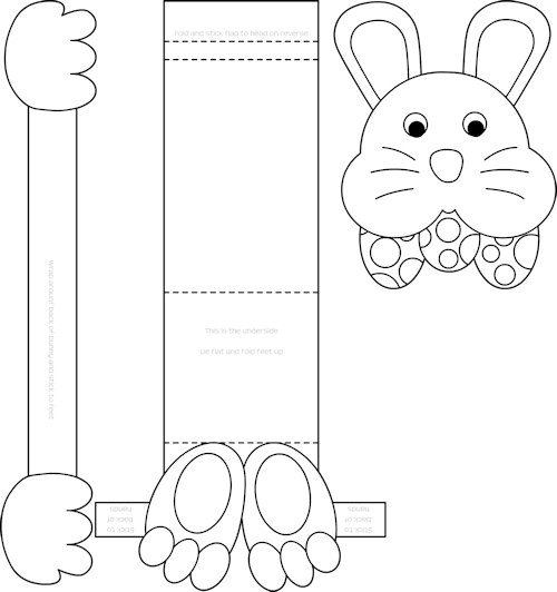 Download and Print Easter Bunny Template to hold your Gluten Free Crispy Cakes